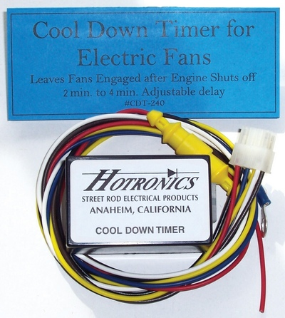 After-run Cool Down Delay Timer for Electric Fans