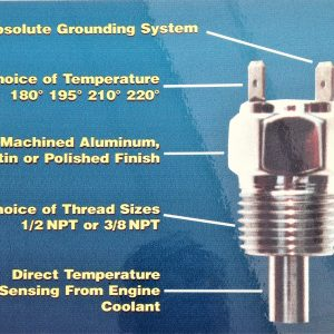Fan Sensor Only…Choice of Temperature, Finish and Thread size. Made in USA